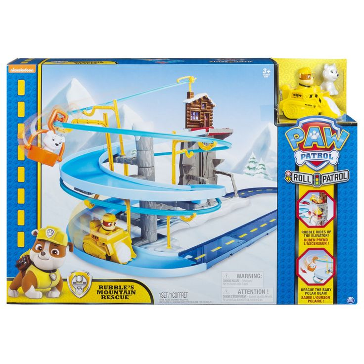 Paw Patrol Rubble's Mountain Rescue Track Activity Playset Christmas Toy For Kid #PawPatrol