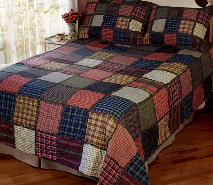 Plaid Baby Quilt: Plaid Flannel Rag Quilt, Discontinued But Great Idea For