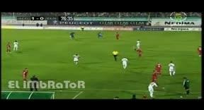 اقتحام مناصر لأرضية الملعب في مباراة الجزائر - تونس|arabeevideo.com