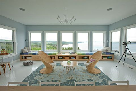 Sitting Room at Coastal Hilltop Cottage: Nova Scotia Charm | http://www.busyboo.com/2011/08/08/coastal-cottage-nova-scotia/