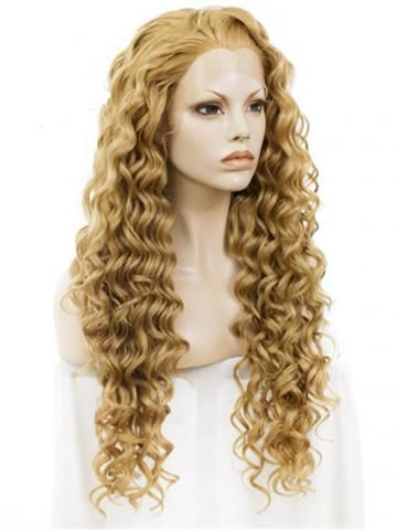 Wig Type: Synthetic Lace Front Wig Materials: Heat Resistance Silk Hair Length: 24 Inch Hair Color: Blonde/Gold Hair Density: 150% Heavy Hairline: Natural Hairline Lace Material: Swiss Lace Cap Size: Average Cap Construction: Glueless Lace Cap