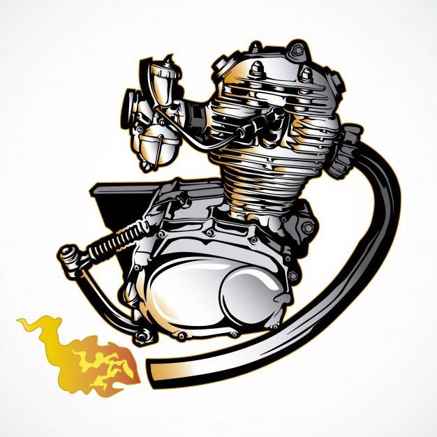 Download Motorbike Motor Hand Drawn For Free Honda Cb Motorcycle Artwork Motorcycles Logo Design