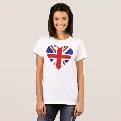 Union Jack T-Shirt - love gifts cyo personalize diy