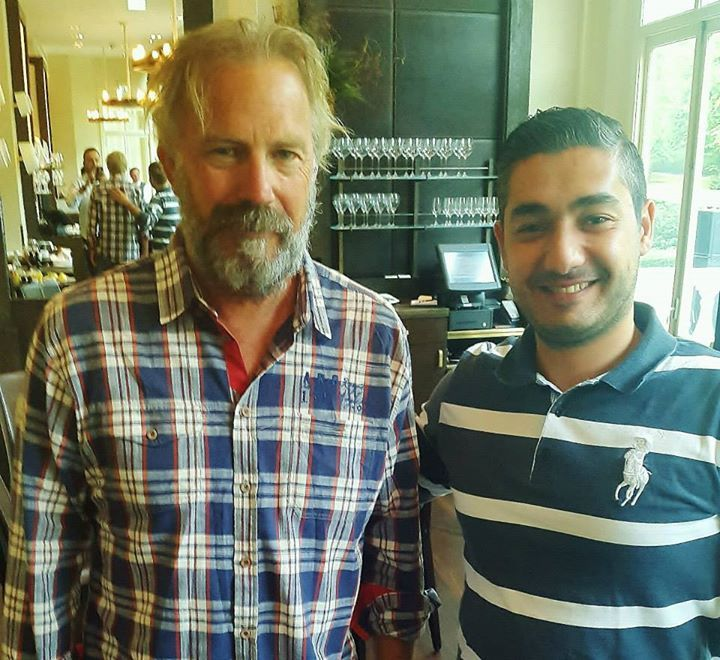 With Actor Kevin Costner