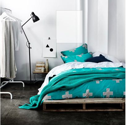 crosses quilt cover by aura home
