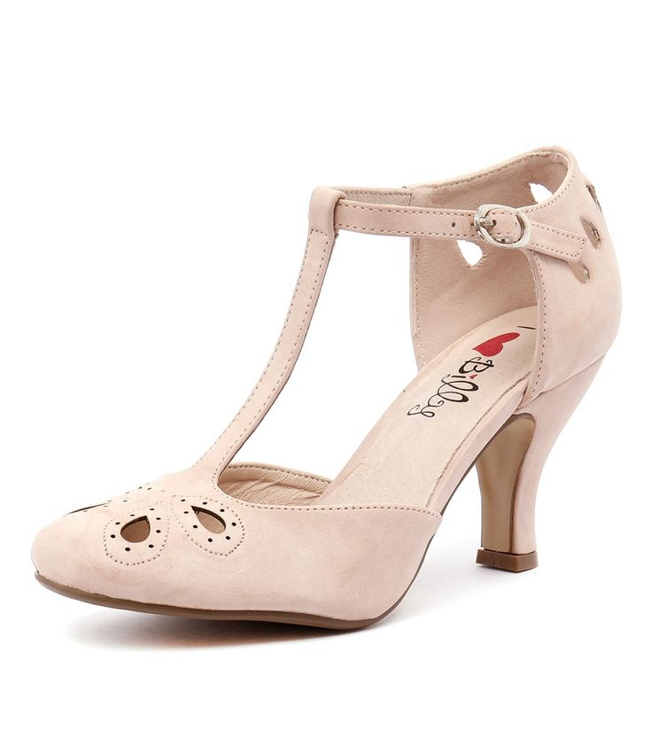 No matter how simple the rest of your look is, this decorative heel delivers an instant ladylike update. Style them with a flared midi dress and cute clutch. Shop 'Marie Blush Smooth' by I Love Billy at styletread.com.au