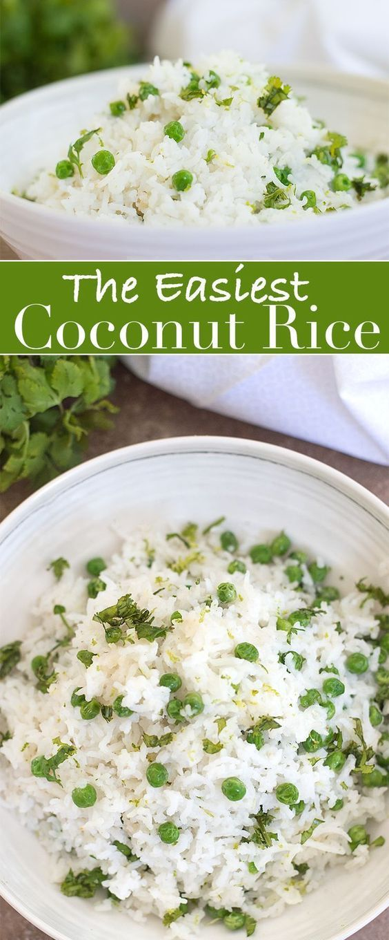Easy and delicious Coconut Rice is the perfect compliment to any meal. The recipe come together in just 25 minutes and can be enjoyed as a side dish or a part of lunch of dinner.