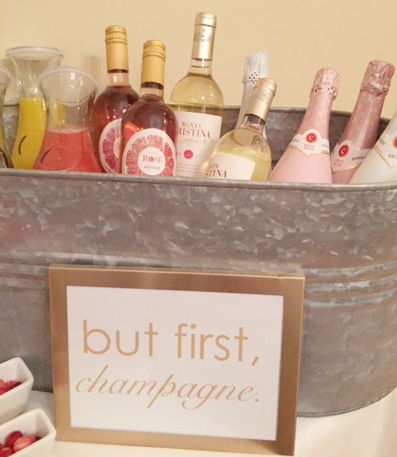 But first, champagne. How to build the perfect champagne bar. The Prep & Pearls blog www.preppearls.com