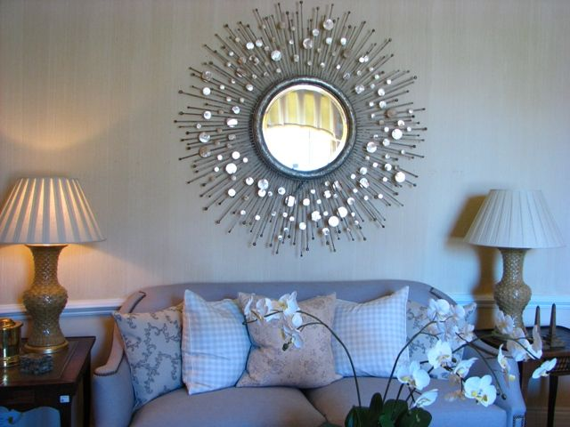 starburst mirror in the interior