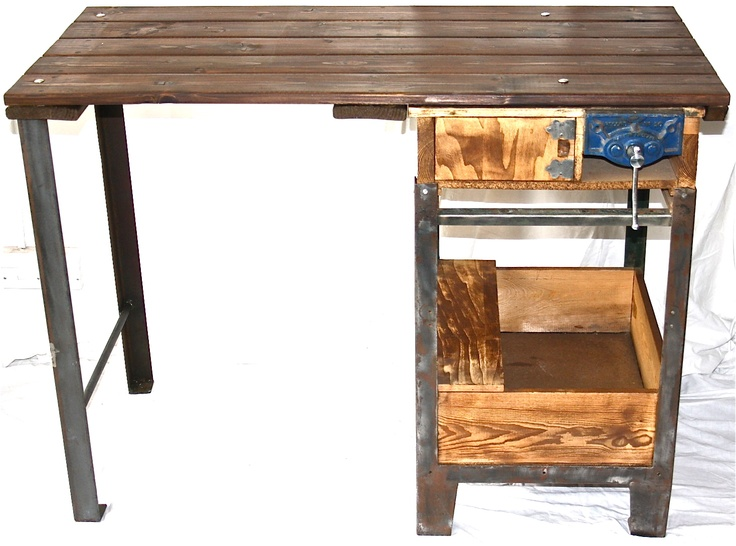 Upcycled from a vintage work bench - great desk