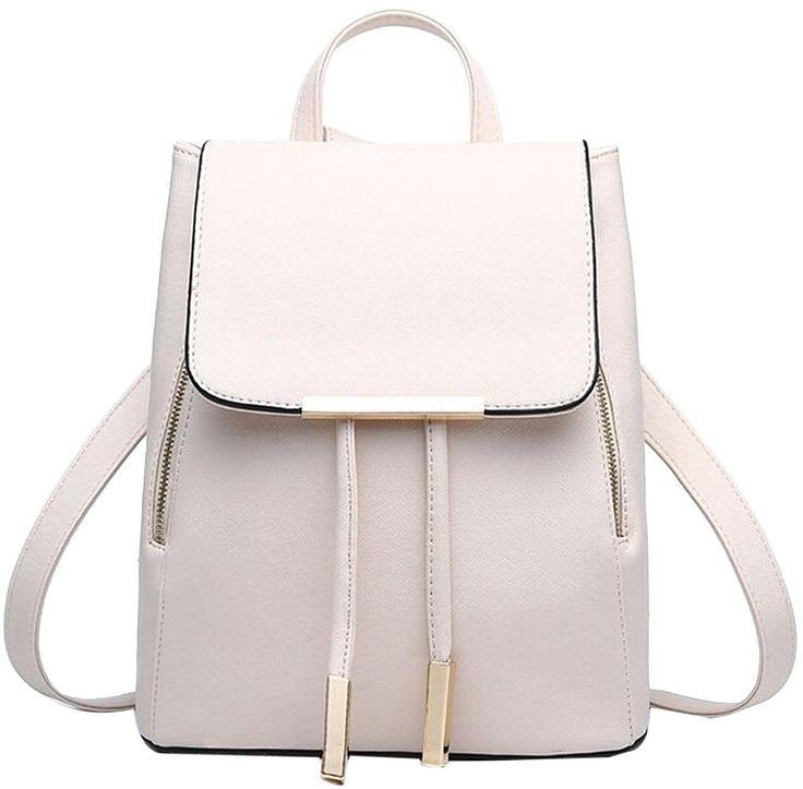 Coofit Damen Rucksack Umhängetasche Schulrucksäcke Leder Reise Daypacks Tasche Schulranzen: Amazon.de: Bekleidung