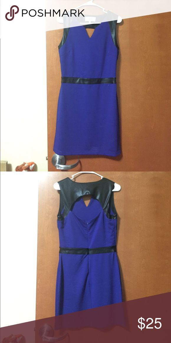 Purple Night out dress Purple, tight, short dress with a cut out back. Black leather straps and waist. Perfect for a night out! Dresses Mini