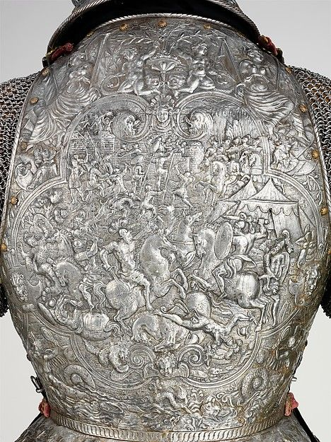 "fabforgottennobility: "" Portions of a Ceremonial Armor  Date: ca. 1575–80 Culture: French Medium: Steel, embossed, with traces of gilding Dimensions: Weight, 17 lb. 7 oz. (7910 g) Classification:..."