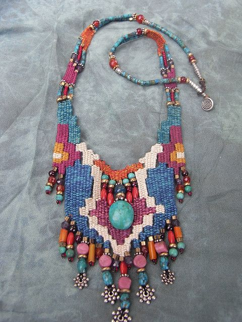 Necklace:  weaving with needle by AowDusdee, via Flickr