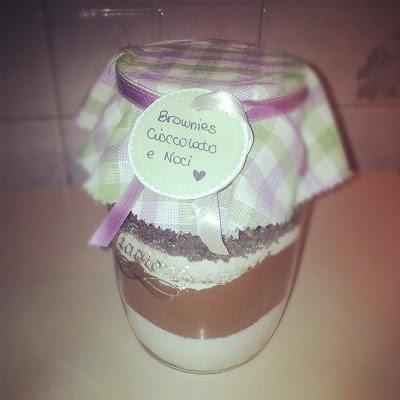 Brownies nel barattolo - ricetta, idee per decorare il barattolo e etichette!