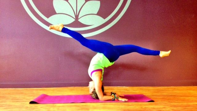 Try this challenging but fun hybrid pose using the actions of a deep backbend even if your spine isn't that flexible.