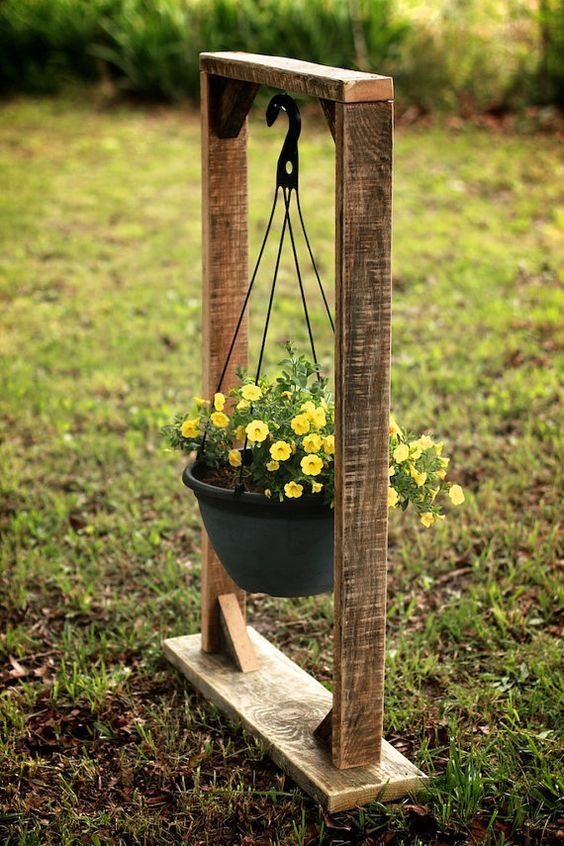 Plant Hanging Basket Stand