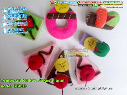 Tempelan Kulkas Cakes Flanel Hub: 0895-2604-5767 (Telp/WA)  #  # # # # # # #souvenir #souvenirPernikahan