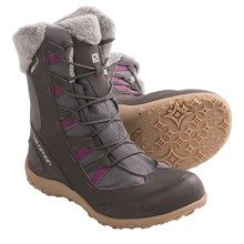 FOOT WEAR: Warm, waterproof boots are ideal for walking around the ranch and snowshoeing in the winter