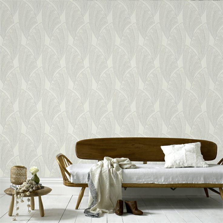 Graham & Brown Novella White Wallpaper