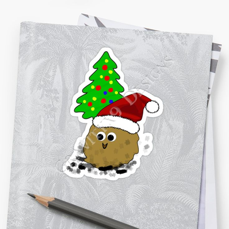 'Christmas Germ' Sticker by Gravityx9 | Sticker Fun ...