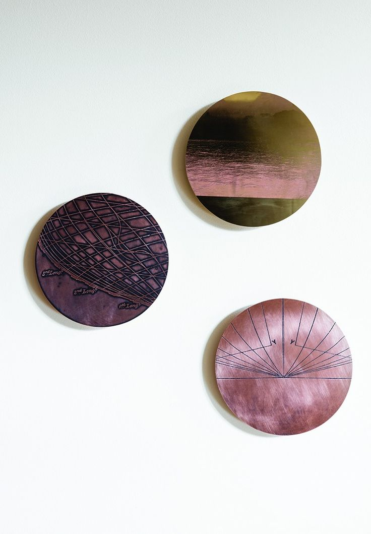 Bristol based designer Rebecca Gouldson captures intricate images on the surface of metals, including copper, brass and zinc