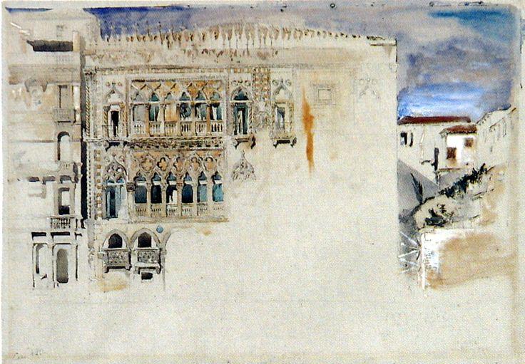John Ruskin The Casa d'Oro Venice, 1845 some LANDSCAPES