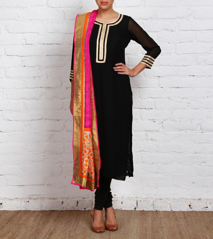 Black Georgette Anarkali Suit......... mah taste,,!!!!!!