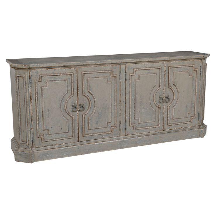 Kosas Home Andrea 4-door Antique Grey Pine Sideboard (Antique Grey Sideboard)