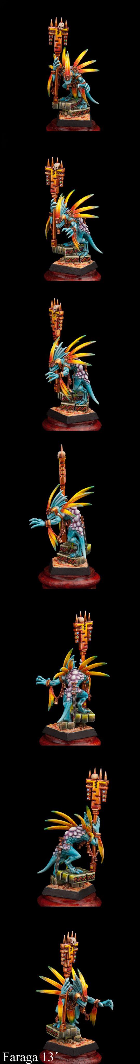 CoolMiniOrNot - Lizardmen Skink Priest by SCHIRAGA