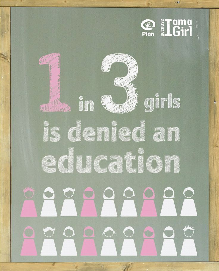 1 in 3 girls is denied an education