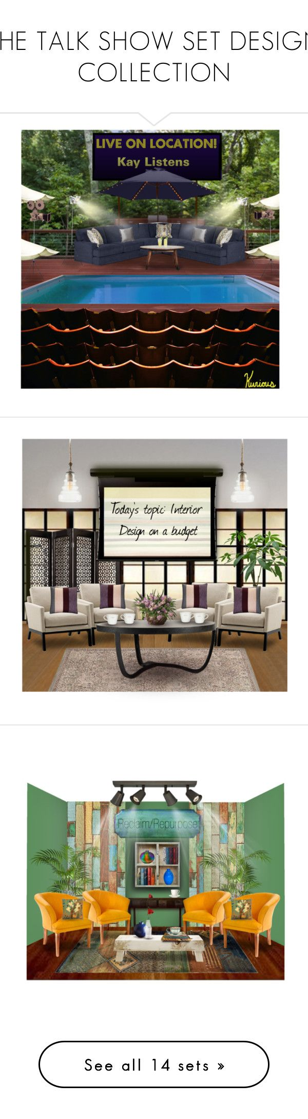 """THE TALK SHOW SET DESIGN COLLECTION"" by arjanadesign ❤ liked on Polyvore featuring interior, interiors, interior design, home, home decor, interior decorating, H&M, Cost Plus World Market, Home Decorators Collection and Stellar Works"