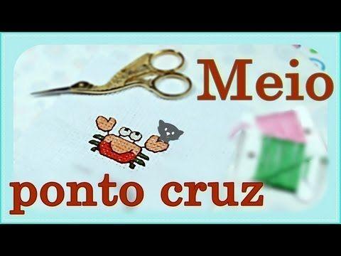 ᴴᴰMeio Ponto Cruz #2 - Com avesso perfeito (Parte 1) - YouTube