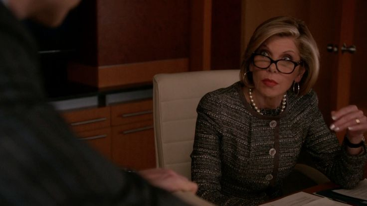 Givenchy Apet Crystal Brown-Stones Eyeglasses inspired by Diane Lockhart in The Good Wife Season 7 Episode 10 | TheTake