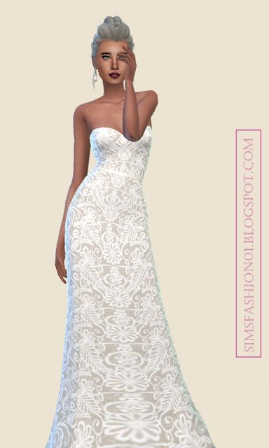 Sims 4 CC's - The Best: Wedding Dress by SimsFashion01