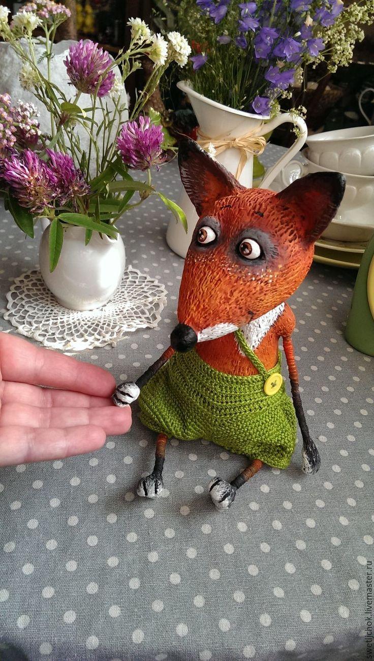 Купить Лисёнок - рыжий, лис, лисенок, добрая игрушка, сказочный персонаж, оранжевый, интерьерная игрушка