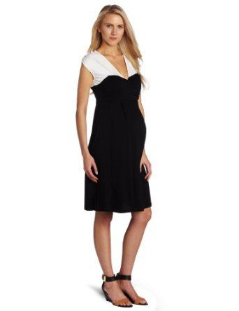 Maternal America Women's Maternity Monroe Sleveless Dress, White/Black, X-Large Maternal America. $59.40