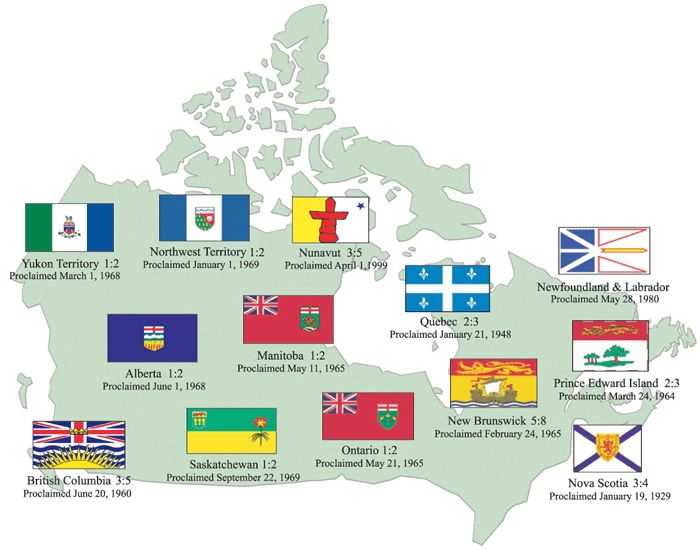 Provincial Flags of Canada