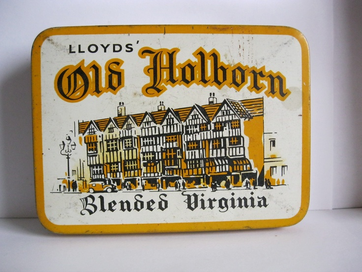 """""""OLD HOLBORN"""" Tobacco tin. My dad smoked this, he had loads of these tins in the shed full of nails, nuts and bolts 'n stuff."""