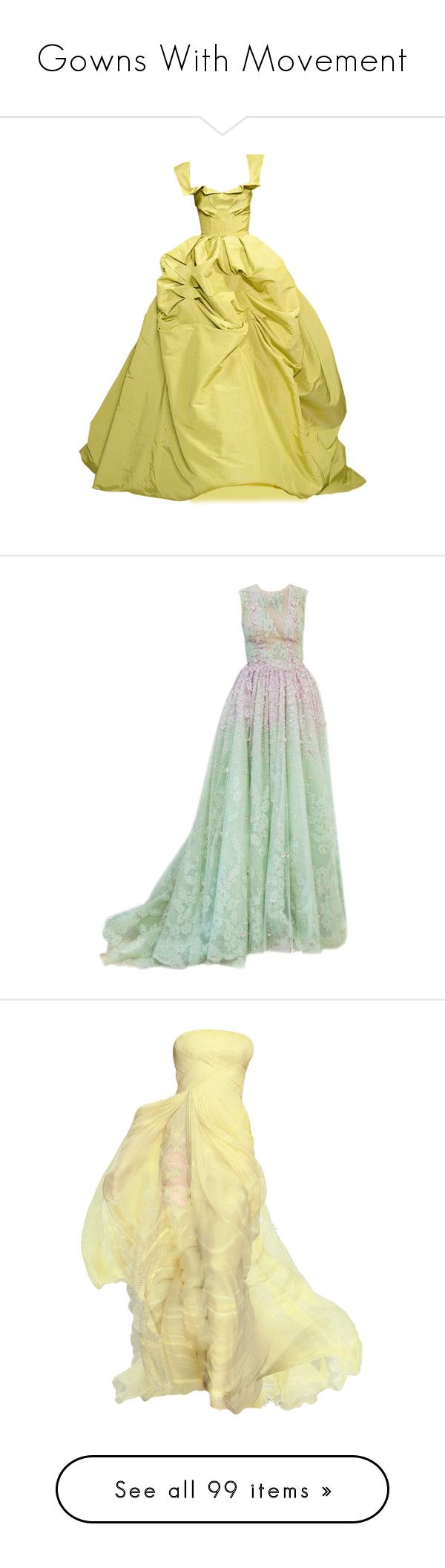 """""""Gowns With Movement"""" by cynthia335 ❤ liked on Polyvore featuring dresses, gowns, long dress, oscar de la renta, oscar de la renta dresses, beige dress, beige long dress, beige gown, oscar de la renta evening gowns and vestidos"""