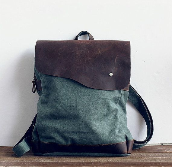 Retro Backpack /canvas bag/ laptop bag / handmade tote bag / messenger bag/ travelling bag / school bag / A1