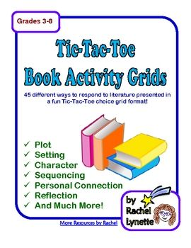 Here are 45 literature response activities arranged in five grids of nine activities each to make a Tic-Tac-Toe format. There is also a list of all 45 activities at the end of the document. These can be used with any chapter book and are great for independent reading. They can also be used in addition to comprehension questions and other classroom work. $