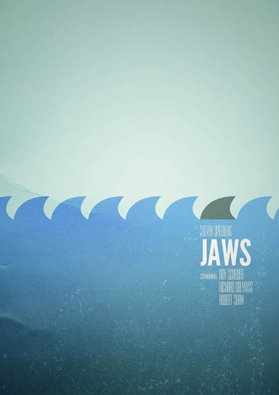 Movie Poster Cinema Poster Design Jaws