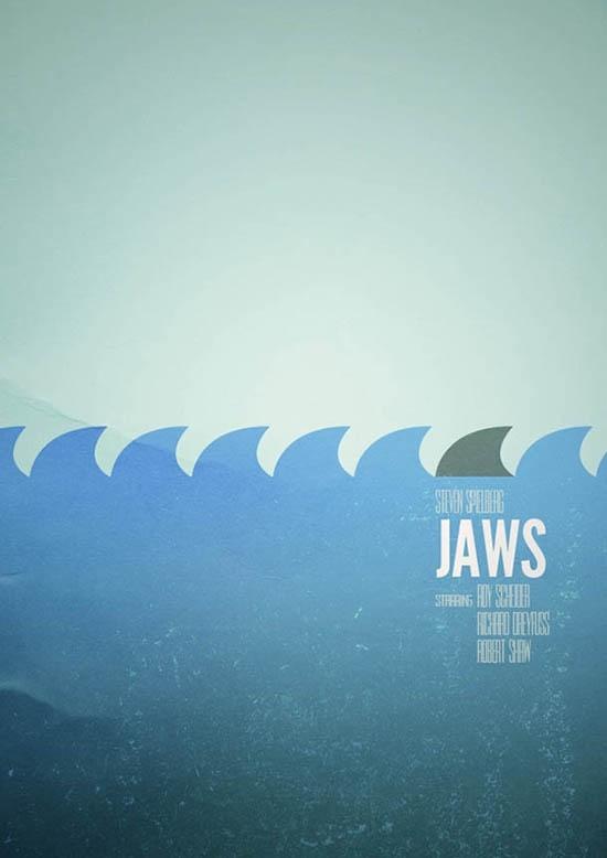 Movie Poster Cinema Poster Design Jaws