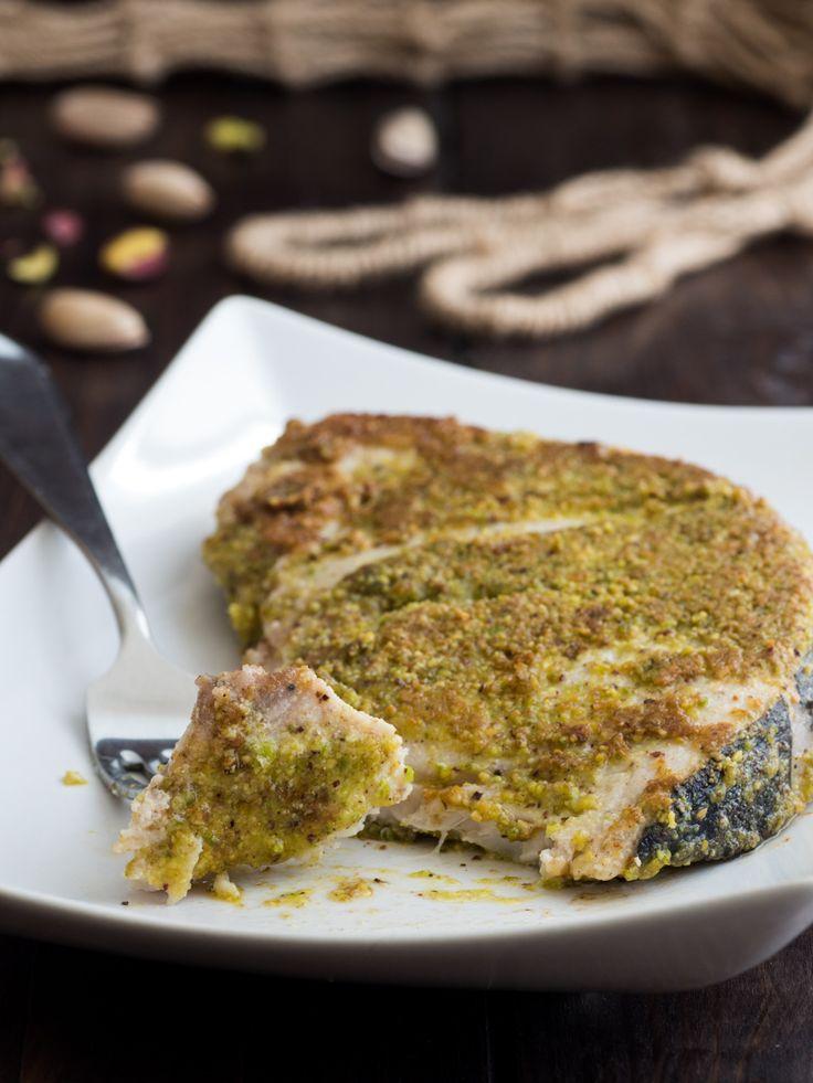 Pesce spada al pistacchio in padella