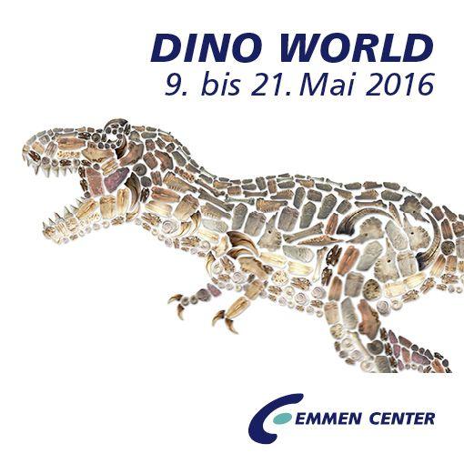 Die Giganten der Urzeit sind da! Vom 9. bis 21. Mai 2016 findet im Emmen Center die einzigartige Ausstellung DINO WORLD statt. Die rund 30 Urzeit-Riesen katapultieren die Besucherinnen und Besucher in eine längst vergangene Welt vor über 100 Millionen Jahren. Die zum Teil animierten Dinosaurier sorgen für wahres Urzeit-Feeling und bieten ein schauriges Vergnügen. Dank Sensoren und internen Robotern sind die Dinos täuschend echt. Mehr dazu unter…