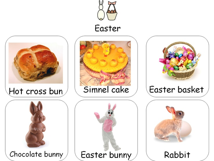 A photo lotto of things associated with Easter, copy two and laminate for a lotto, or use as a starting point for discussion.