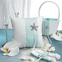 Seaside Wedding Accessories Collection with pretty sparkling starfish