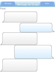 Blank Twitter Feed Template Imessage practice spanish IS