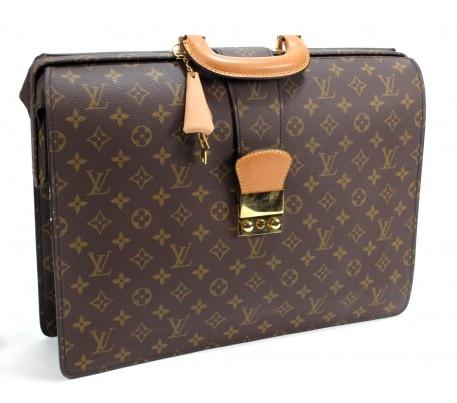 Louis Vuitton Monogram Canvas Serviette Fermoir Briefcase